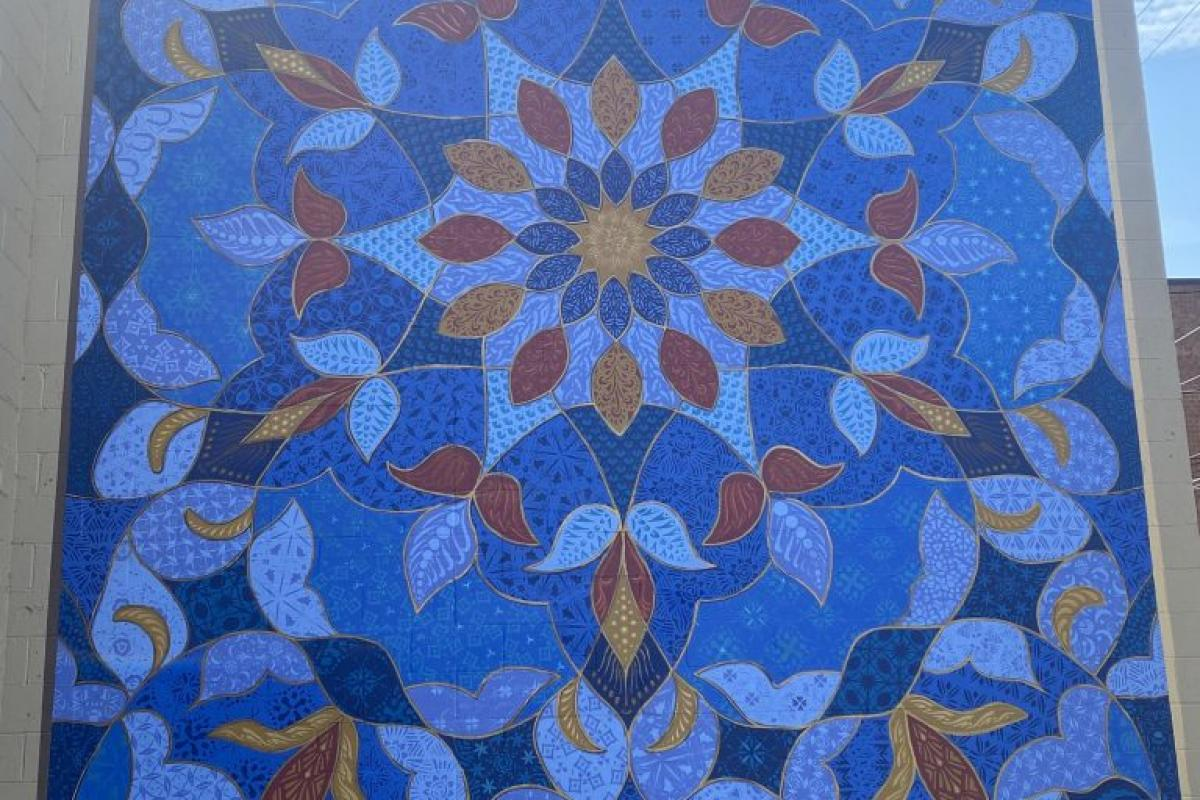 Blue Arabesque - 623 Court Street