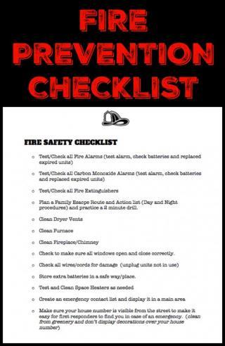 Fire Prevention Checklist